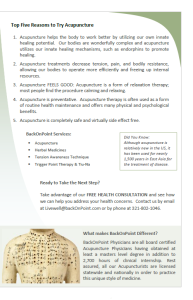 BackOnPoint Brochure designed by Mary P Parker
